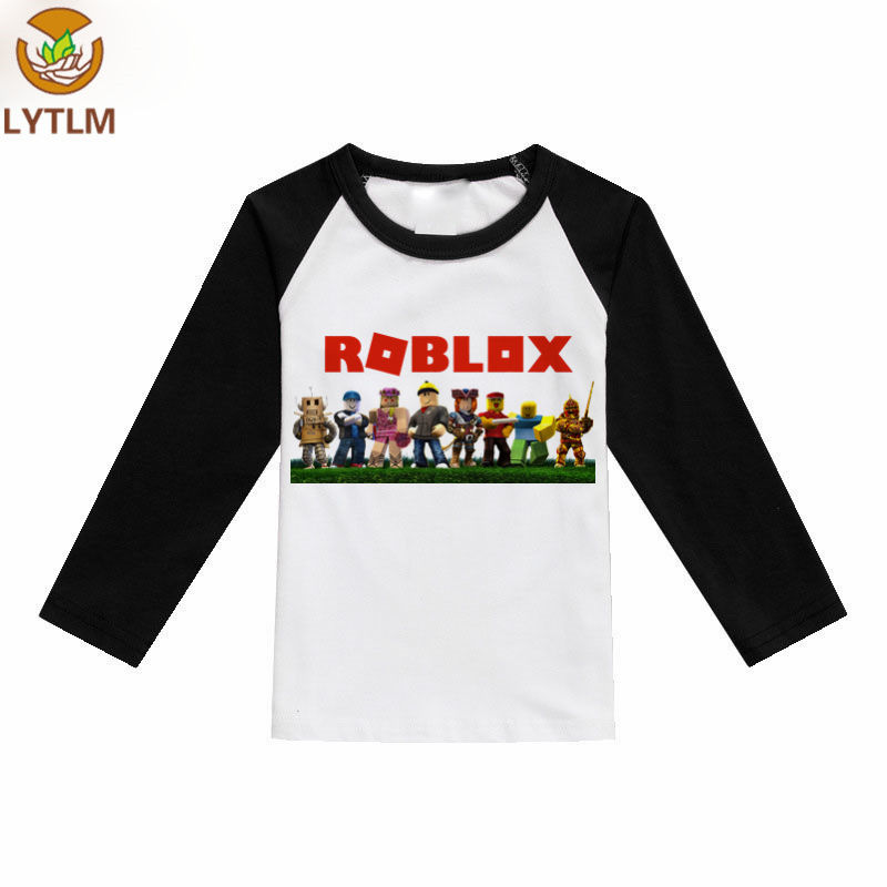 LYTLM Roblox T Shirt Kids Boys Girls T-shirts Autumn Spring Cartoon Cotton Children Clothes Baby Long Sleeve Casual Tops Tees цена 2017