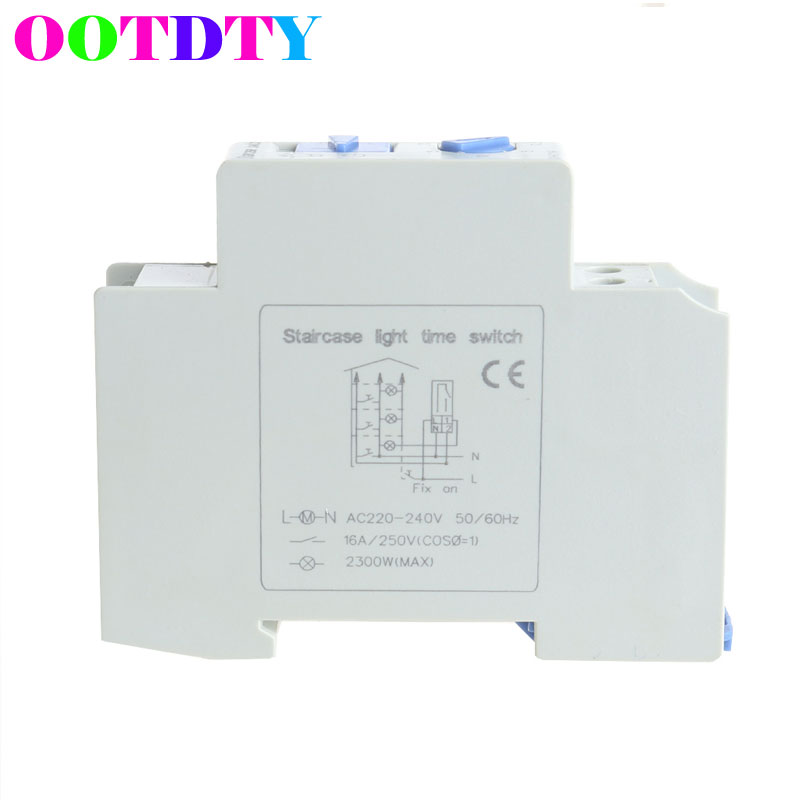 Stair Light Delay Timer DHC18 Relay Normally Open Contact Adjustable normally open single phase solid state relay ssr mgr 1 d48120 120a control dc ac 24 480v
