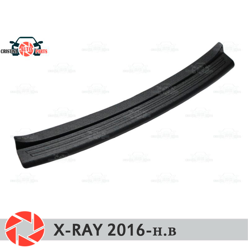 Plate cover rear bumper for Lada X-Ray 2016- guard protection plate car styling decoration accessories molding motorcycle scooter front sprocket cover panel left engine guard chain cover protection for honda msx1252013 2016 msx125sf 13 16