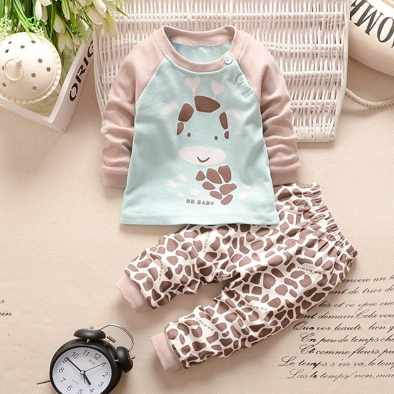 2 Stks Set Pasgeboren Baby Baby Meisje Jongen Kids Lange Mouwen Warm Tops + Broek Outfits Jaarlijkse Koopjesverkoop