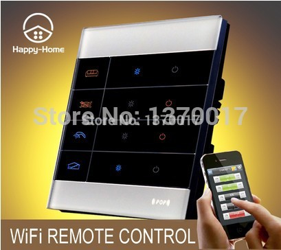 Top Tempered Glass White 2 Gangs Zigbee Mobile Wireless remote control light switch Wifi Remote light Switch 220V,Free ShippingTop Tempered Glass White 2 Gangs Zigbee Mobile Wireless remote control light switch Wifi Remote light Switch 220V,Free Shipping