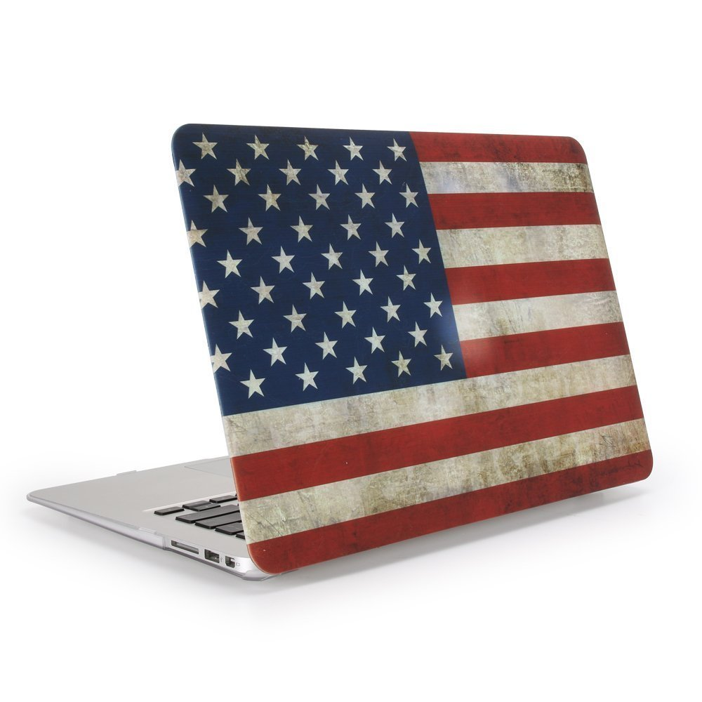 UK US Flag printing Hard Cover Case Silicone Keyboard Cover For font b Apple b font