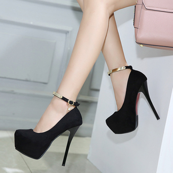 New autumn 14cm super high heels night field stiletto waterproof sexy nightclub women's shoes Pumps