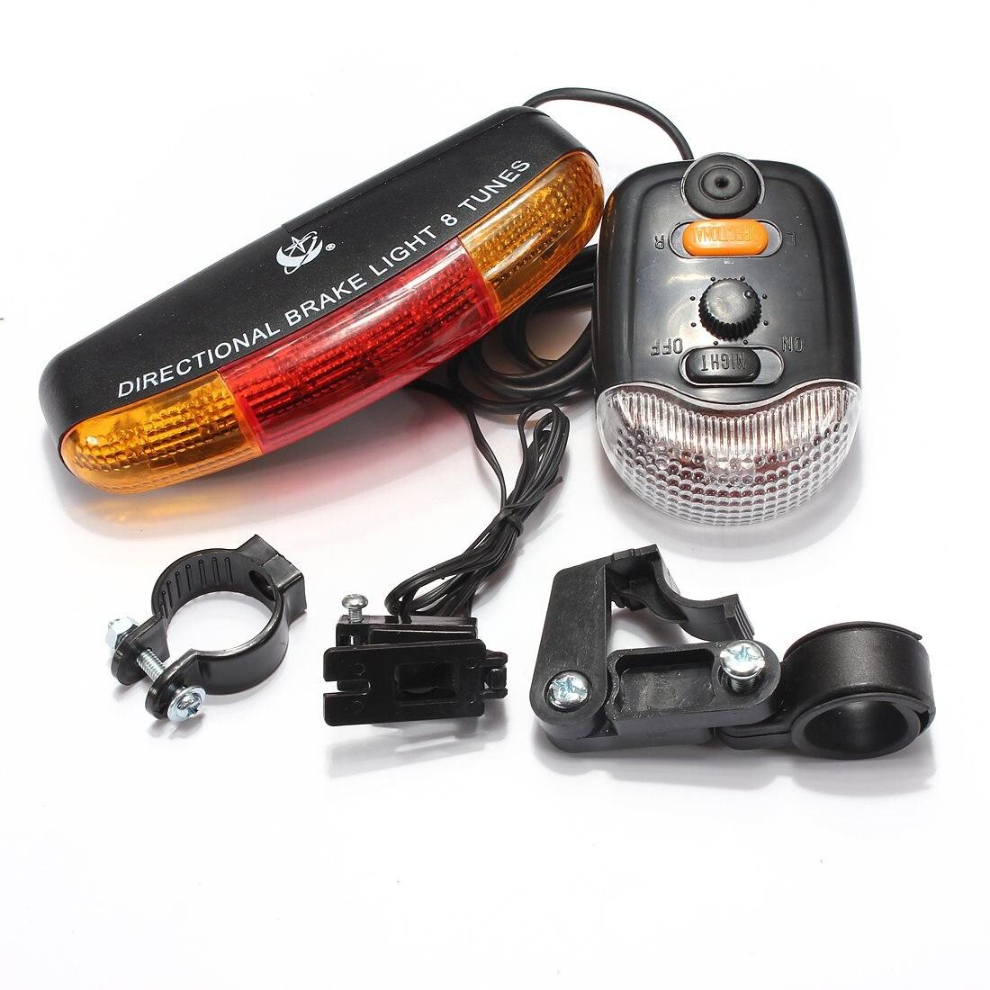 OUTERDO 3 En 1 7 LED 8 Tunes Signal De Frein LED Lumière 3 Lumière Modèles Électrique Corne Vélo Lampe Vélo lumières