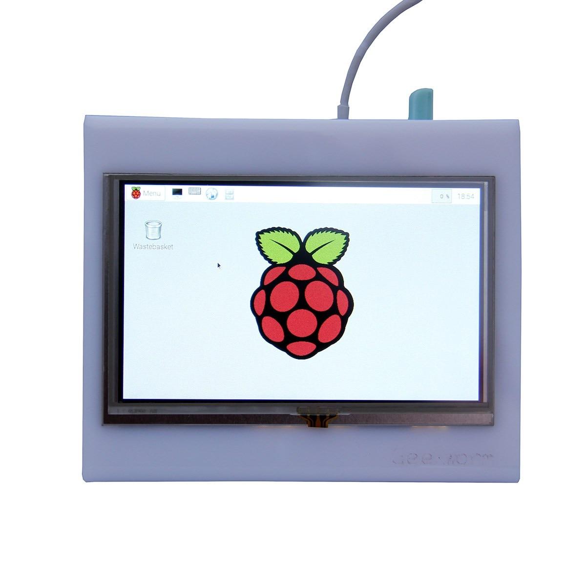 Écran tactile LCD HDMI 5 pouces TFT 800*480 pour Raspberry PI 3 modèle B/2B/B +/A +/B avec connecteur HDMI/stylo tactile/étui