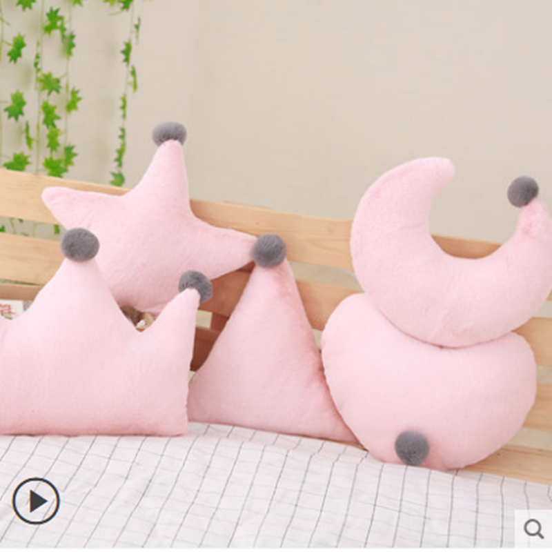 Nordic Ins Crown Cushion stars moon pillow love cushion pink girl heart super soft sofa cushion gift Bedroom Decoration in Cushion from Home Garden