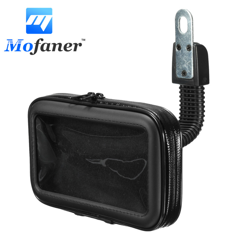Mofaner Waterproof Motorcycle Phone Holder Bag Bike Rear View Mirror Mount Case Phone Holder Bag Stand GPS Bracket For Phone GPS h 548 bike motorcycle mount stand w 3m sticker for camera gps dv player black