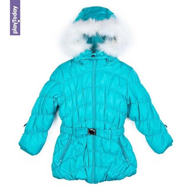 Куртка утепленная PLAYTODAY для девочек зимняя 372101