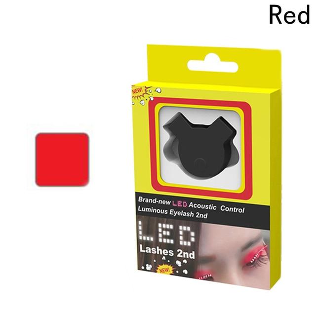 4b4abdc6755 LED Eyelashes Voice-activated Eyelid False Eyelashes Unisex LED Light Eye  Lash Luminous Shining Eyelash
