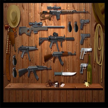 Retro cafe bar gun background wall painting professional custom high-end mural factory wholesale wallpaper mural photo wall цена 2017
