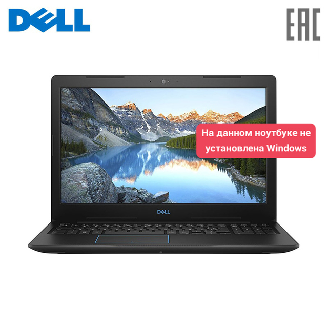 "Ноутбук Dell G3 15-3579 15,6 ""FHD/Intel Core i5-8300H/8 GB/1 ТБ + 8GB SSD/GTX 1050 4 Gb/Linux/Black (G315-7053)"