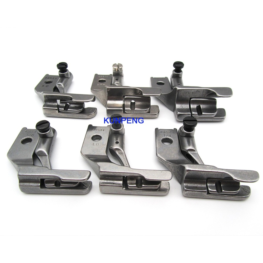 6 PAIRS DOUBLE TOE PIPING WELTING WALKING FOOT FOR PFAFF 1245,335,545,145