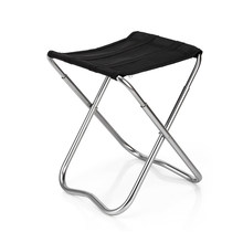 2018 New Ultralight Outdoor 7075 Aluminum Alloy Foldable Chair Fishing Seat Camping Picnic BBQ Garden Chair Fishing Square Stool(China)