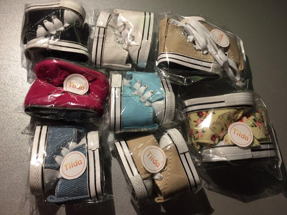 Tilda 5cm Canvas Shoes 1/6 BJD Shoes for Plush Dolls,Original 5 CM Shoes for 20cm Doll,Russian Doll Accessories 5 Pair/Lot