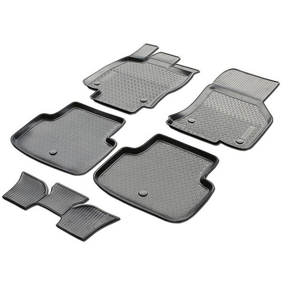 Floor mats into saloon for Skoda Octavia A7 2013-2018 5 pcs/set (Rival 15101001) rubber floor mats into saloon for skoda rapid 2013 2019 5 pcs set rival 65102001