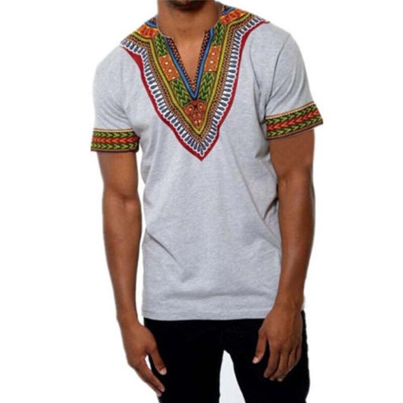 New African Dashiki Imprimé Homme T-Shirt Festival de Hiphop Tribal Poncho Mexicain Ethnique Boho Tops Homme Vêtements 2018 Plus La Taille