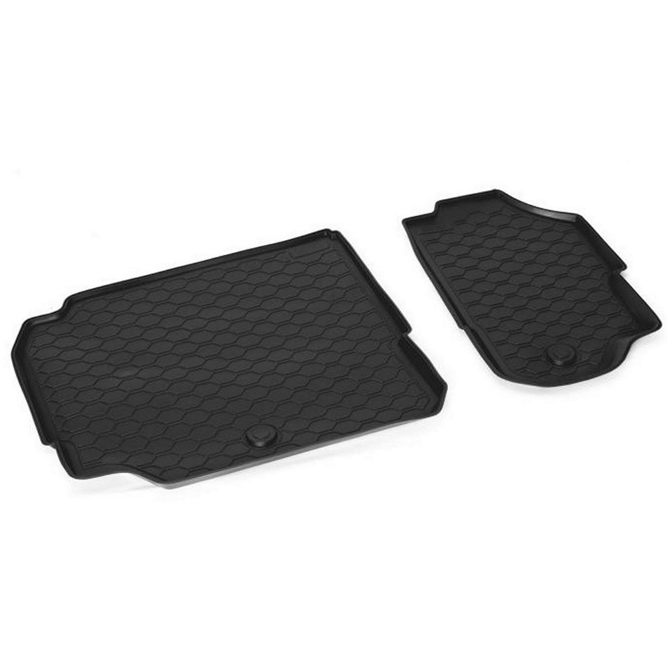 3-row of seats floor mat  for Skoda Kodiaq 2017-2019 2 pcs/set (Rival 15105004) брюки laura bettini брюки классические