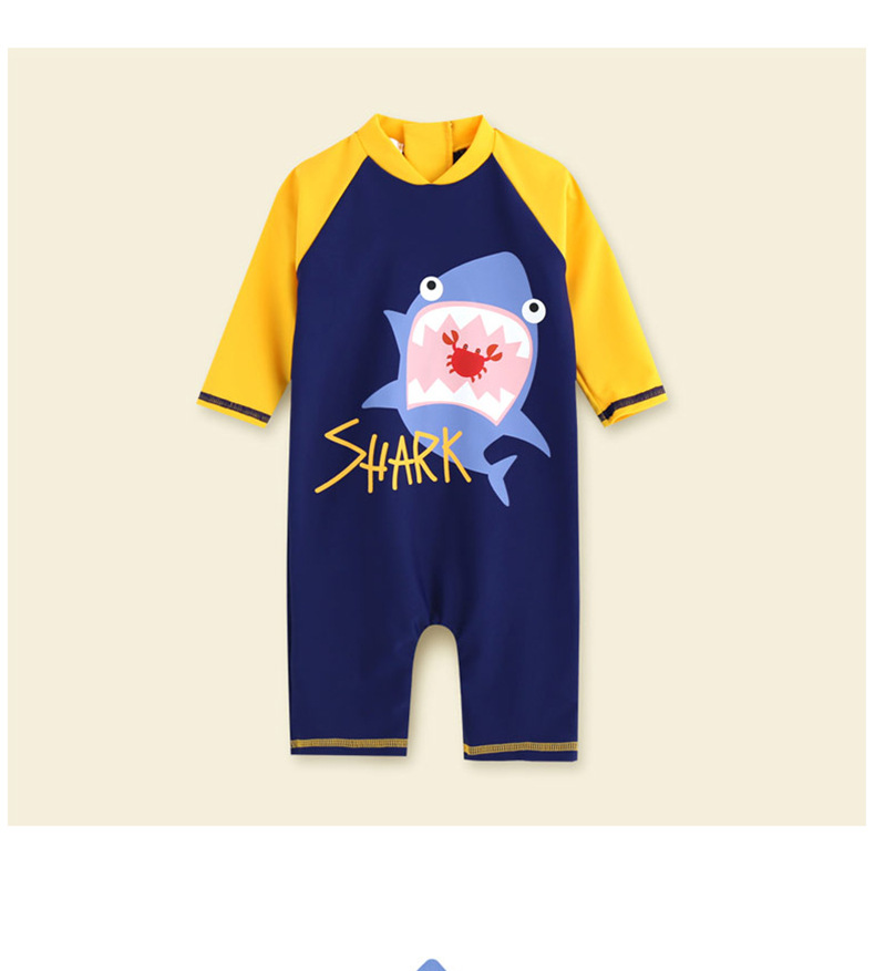 401e8940b1 swimwear baby kids long sleeve blue fish baby boy swimwear suits one piece  swimsuit baby swimsuit bathing suits 80-130cm baby