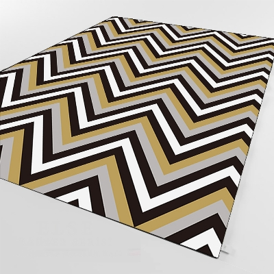 Else Black Gray Mustard Bias Lines Geometric 3d Print Non Slip Microfiber Living Room Decorative Modern Washable Area Rug Mat