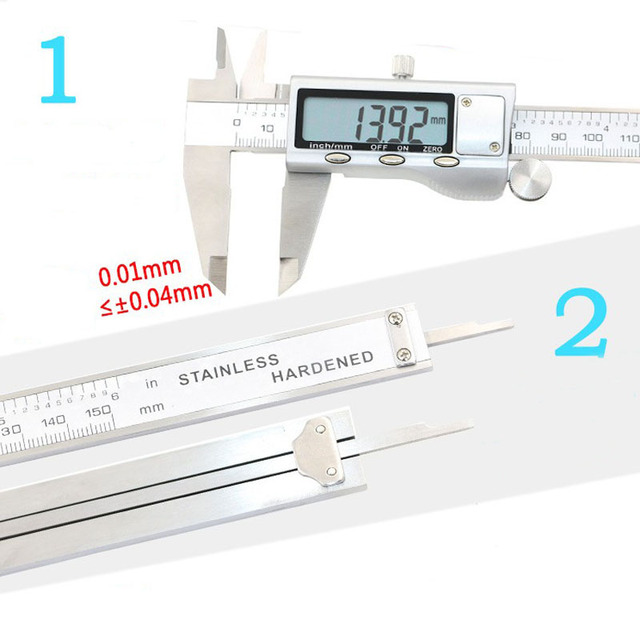 Digital Vernier Caliper - Stainless Steel Construction 6-Inch 150mm Electronic Micrometer Measuring Tool 4
