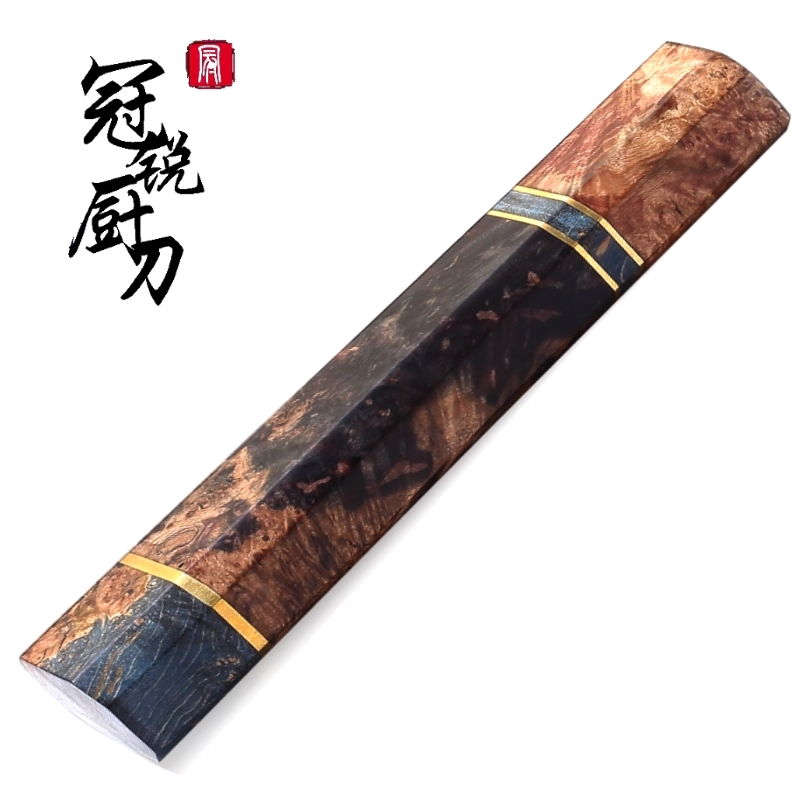 DIY Hobby Knife handle Kitchen knife Parts NEW Design Solidified Wood  Octagonal Handle Chef s Knife Tools Knife Making
