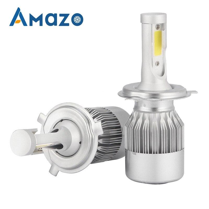 1PCS Car Headlight Bulb LED C6 H4 Bright Light Beam 36W 3800LM 6500k Hi Lo White Light LED Headlight Bulb Car Lamp 12V 24V in Car Headlight Bulbs LED from Automobiles Motorcycles