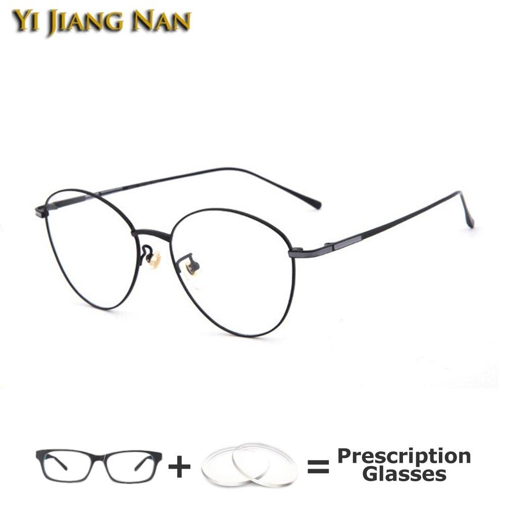 Retro Women Optical Glasses Frame Men Top Quality Vintage Titanium Large Circle Prescription Eyeglasses Spectacles