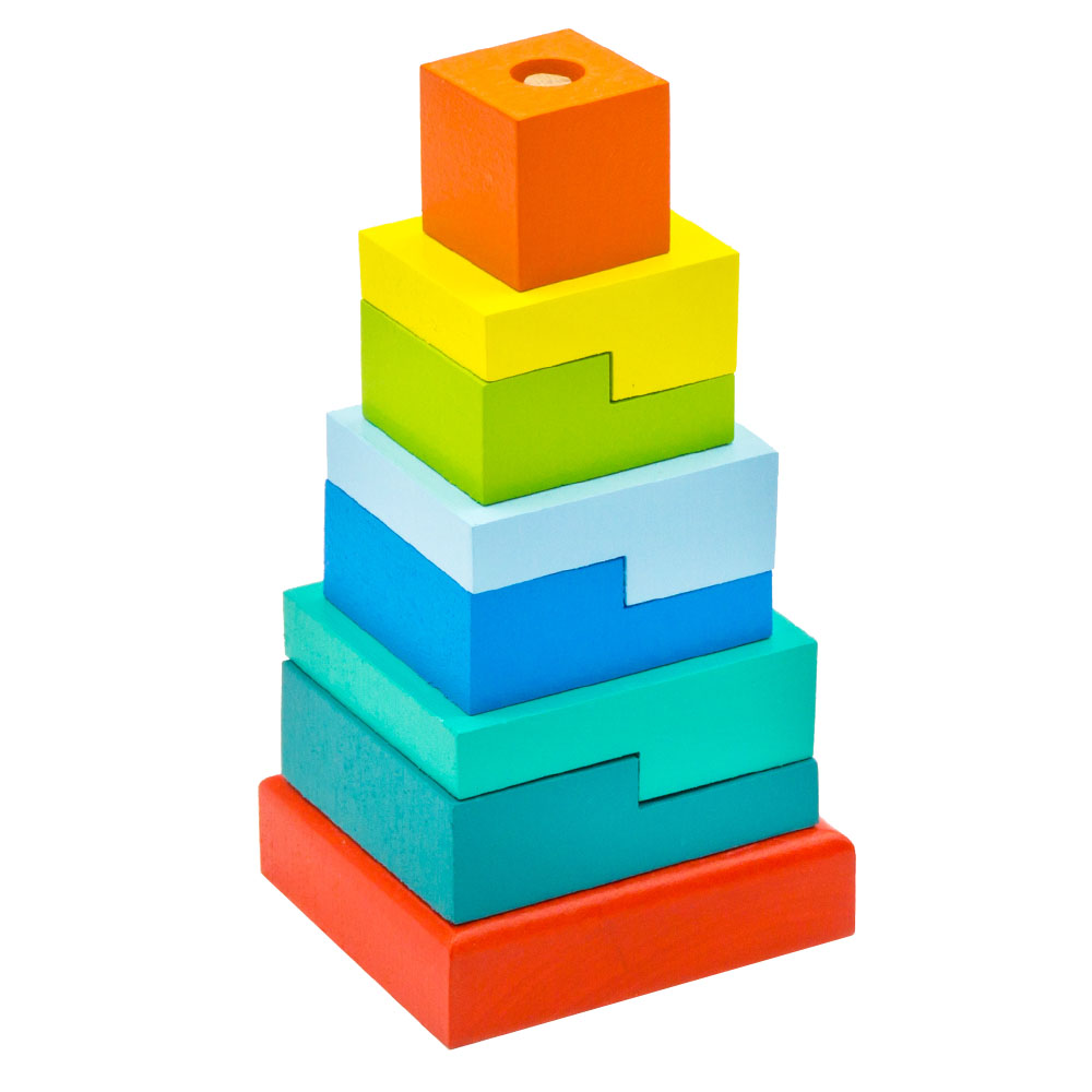 Magic Cubes Alatoys PCT02 play building block set pyramid cube toys for boys girls abc magic cube shape coin storage box