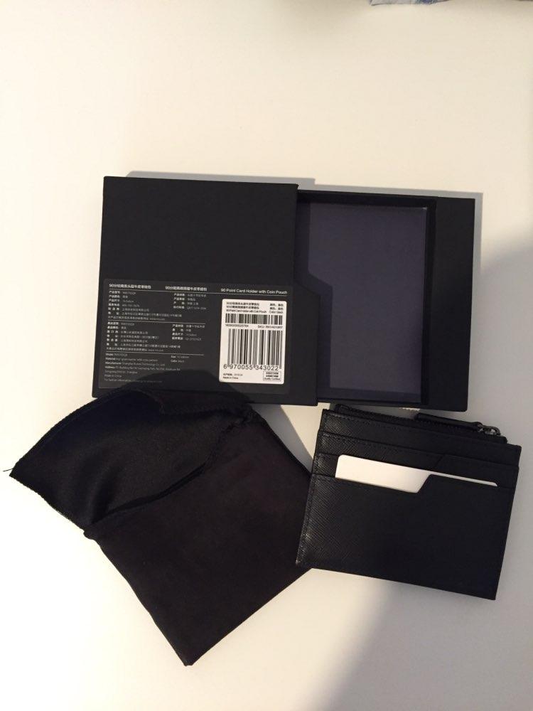 XIAOMI 90FUN Concise Business Casual Billfold Long Wallet Coin Purse Card Holder Safiano Genuine Leather for Men Women Boy Girl photo review