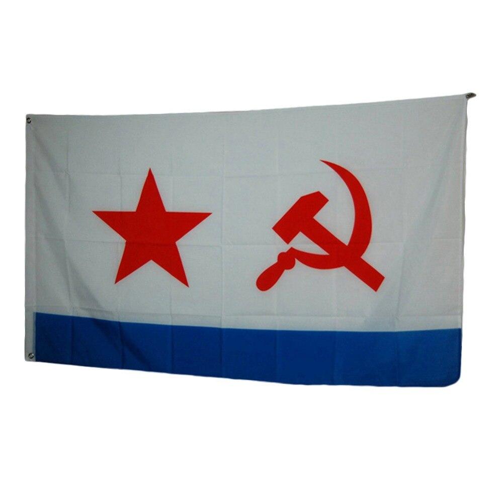 UDSSR Sowjetische Navy Flag 3x5 Ft 90x150 cm Polyester Russland Russisch Fahnen Und Banner Für Victory Tag/Home Dekoration/