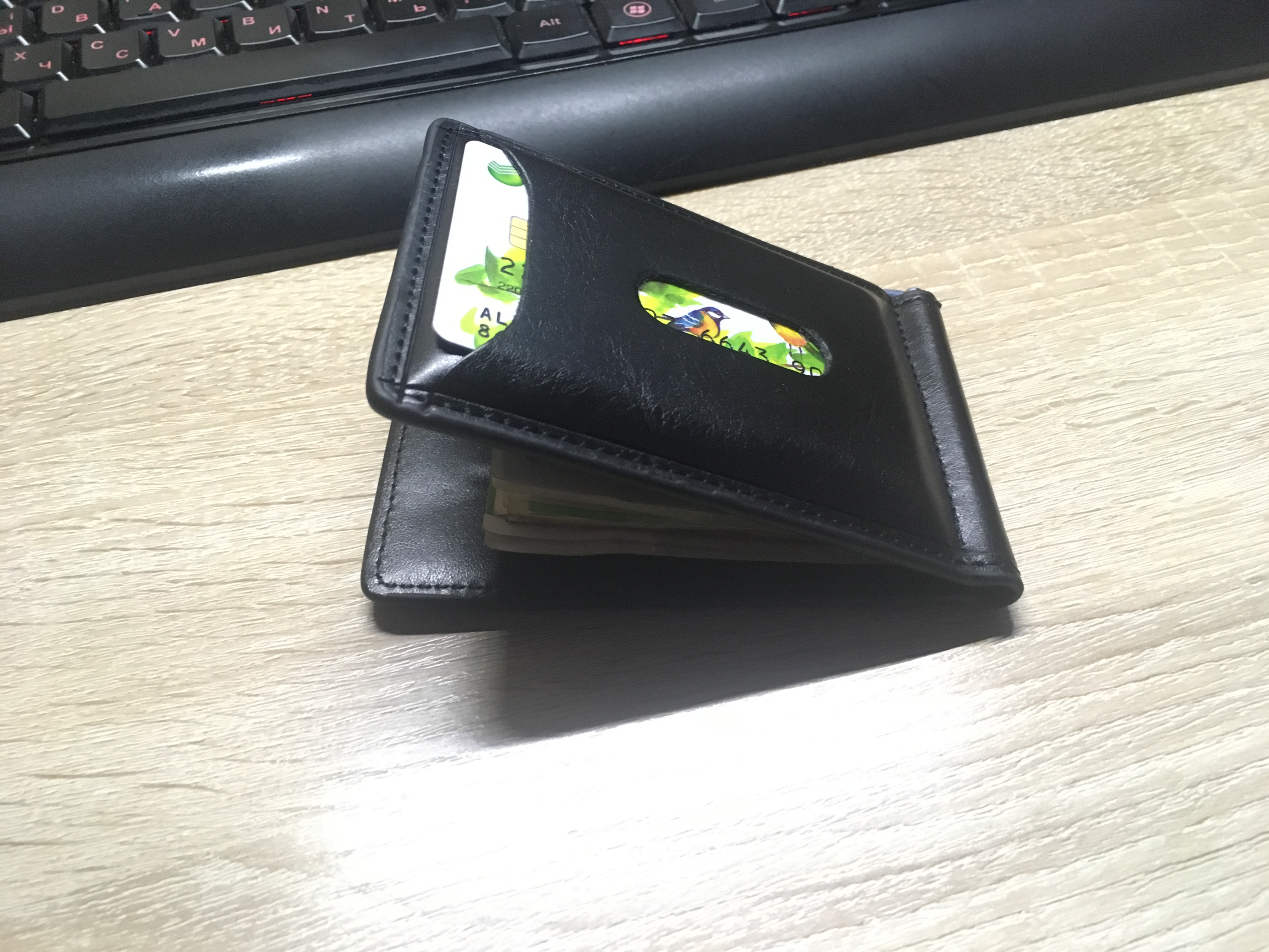 Ocean Bluevin Foreign Portable Men's Money Clips Wallet Black Brown Quality Fashion Soft 2 Folds ID Credit Card Bit Clip Cateira photo review