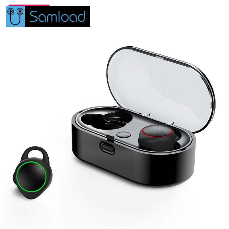 Samload TWS Bluetooth Earphone True Wireless Stereo wireless 3D stereo mini headphones Headset In Ear Earbuds For Smartphone mini headphones bluetooth headset bt 4 0 in ear wireless headphones stereo earbuds microphone car headsets mobiles earphone
