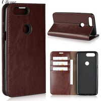 Uftemr Geniune Leather Flip Case For Oneplus 5T Wallet Funda Book Cover For One Plus 5T