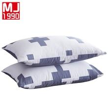 Cross Pattern Decorative Pillowcase Thick Cotton Body Pillow Case Home/Hotel Geometric Printed 100% Cotton Pillow Cover 48x74cm