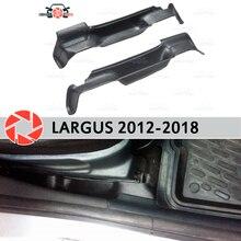 Компактный чехол для хранения сидений Lada Largus 2012-2018 коробка аксессуары украшение автомобиля Стайлинг карман между сидениями
