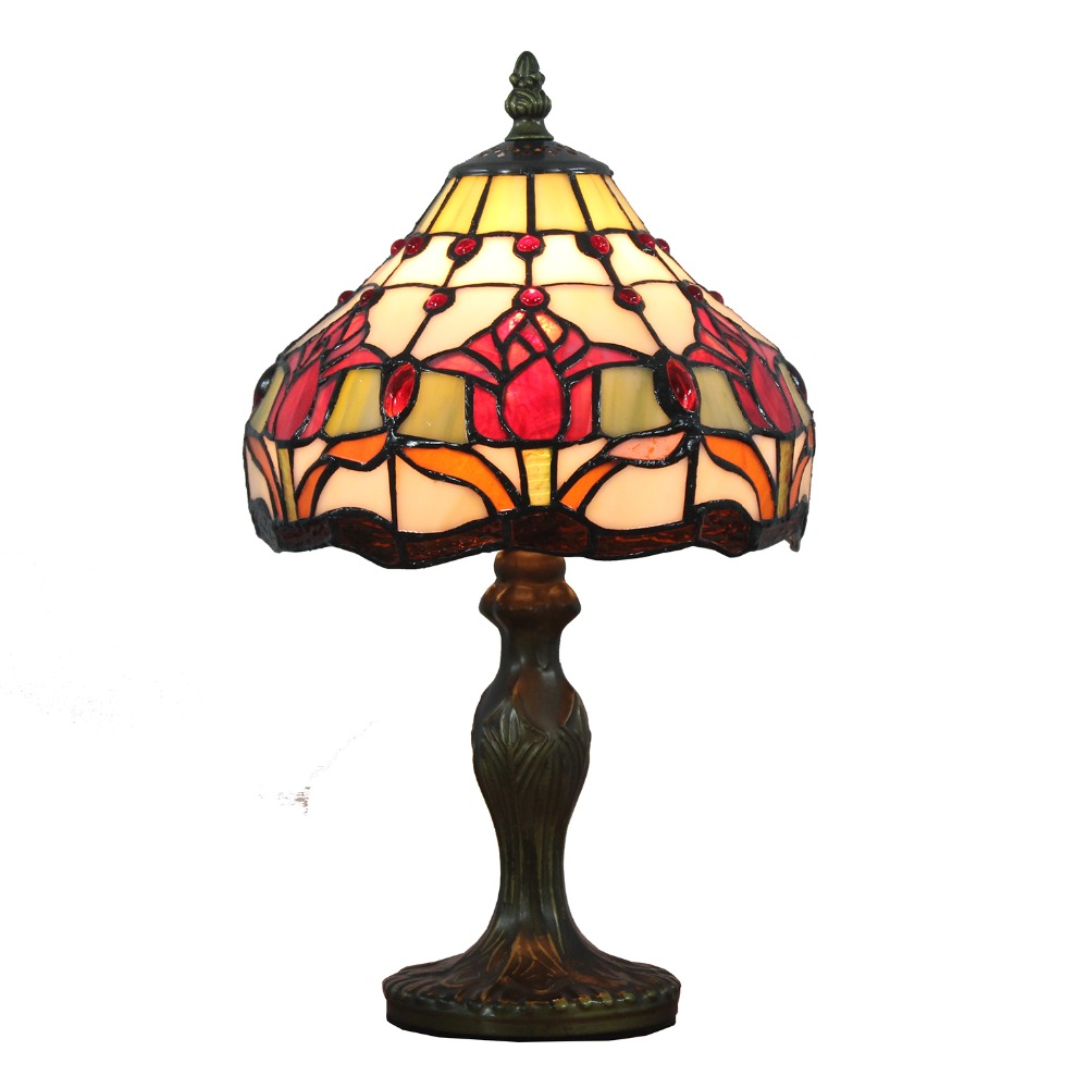 Stained Glass Tulip Desk Lamp Contemporary Table Lamp Collection