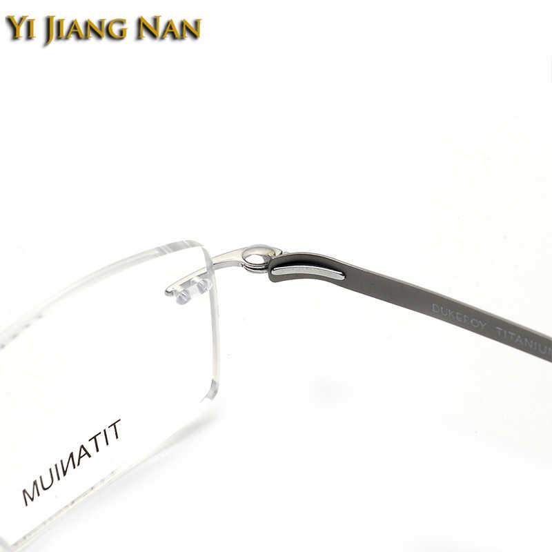 Yi Jiang Nan marca de titanio gafas de prescripción hombres sin montura alta calidad nueva llegada gafas sin marco lunettes de vue femme