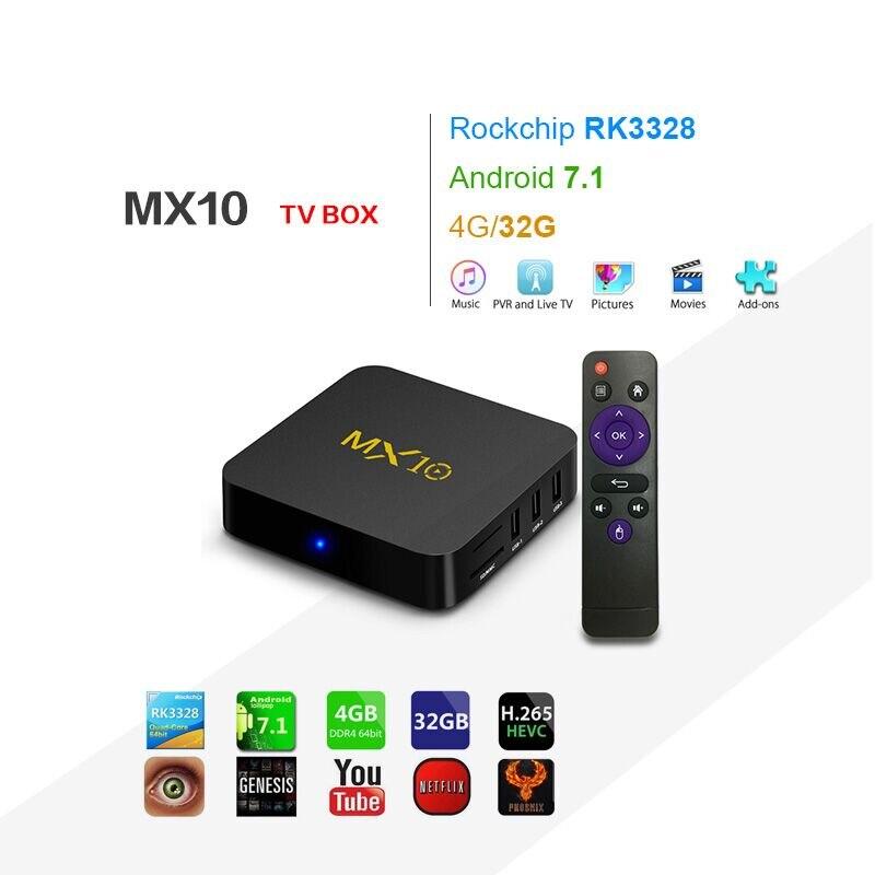 MX10 Android 8.1 Smart TV BOX 4GB DDR4 32GB EMMC RK3328 Quad Core 4K HDR 2.4GHz WIFI USB 3.0 Set Top Box PK X96MINI mx10 pro tv box 4gb ddr3 32gb rom android 7 1 rk3328 quad core 4k hdmi 2 0 2 4g 5ghz wifi usb 3 0 smart set top box drop ship