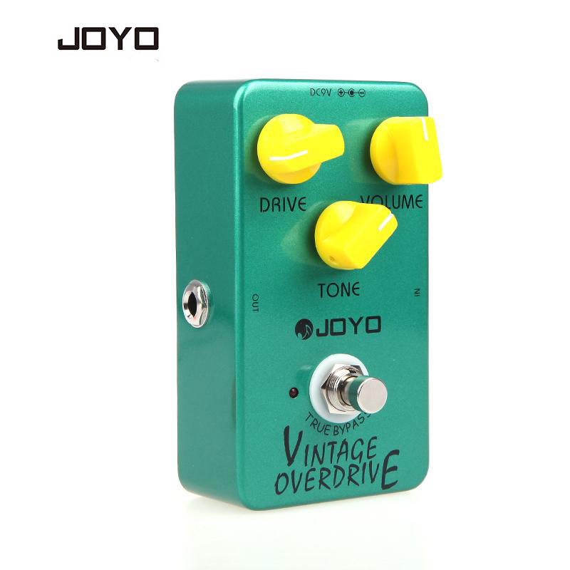 JOYO JF-01 Vintage Overdrive Guitar Effect Pedal Guitarra Guitar Effect with Ture Bypass For Musical Instruments Parts Accessory aroma adr 3 dumbler amp simulator guitar effect pedal mini single pedals with true bypass aluminium alloy guitar accessories