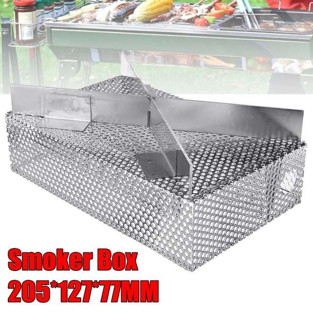 Cold Smoke Generator Charcoal Barbecue Grill Cooking Tools Wood Chip Smoker Smoking Outdoor For Bbq