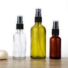 Aihogard pulverizador de líquido de aceite esencial portátil, rellenable, atomizador vacío, rociador de maquillaje en botella, atomizador de vidrio, 100/50/30ML