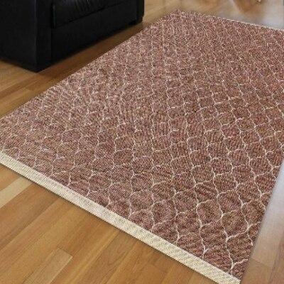 Else  Brown White Ogee Spade Tradional Ethnic Turkish Geometric Anti Slip Kilim Washable Decorative Plain Paint Woven Carpet Rug