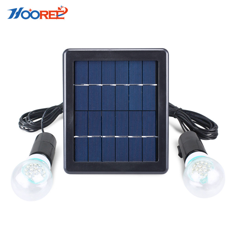 Hooree LED Solar Lamp Portable Solar Light Bulbs Rechargeable Hanging Lamp Home Outdoor Energy Hiking Camping