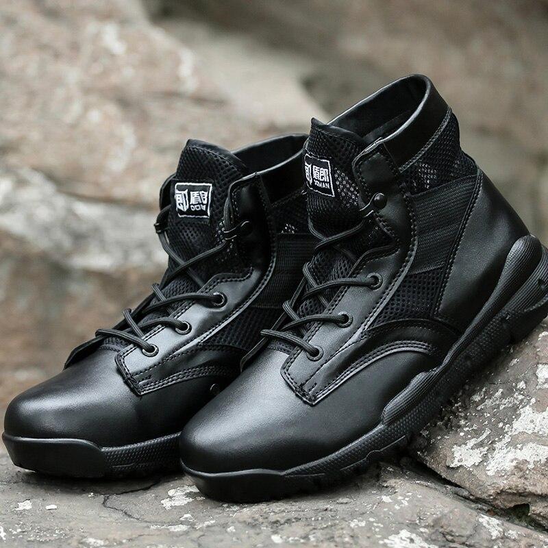 Adulto Respirável Botas Leve Militares Tático Outono Sapatos Do De Motocicleta Exército Super Militar Combate Mens Preto xZwqPpn78x
