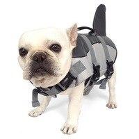 2017 nuovo arrivo Piccolo Cane/Gatto Estate Pet Giubbotto di Salvataggio Squalo stile Giubbotto di Salvataggio con Maniglia Dog Nuoto Vestiti di Formazione Piscina spiaggia