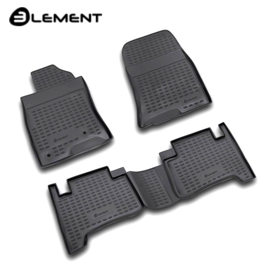 Floor mats into saloon for Toyota Land Cruiser 120 Prado 2003-2009 4 pcs/set Element NLC4801210K