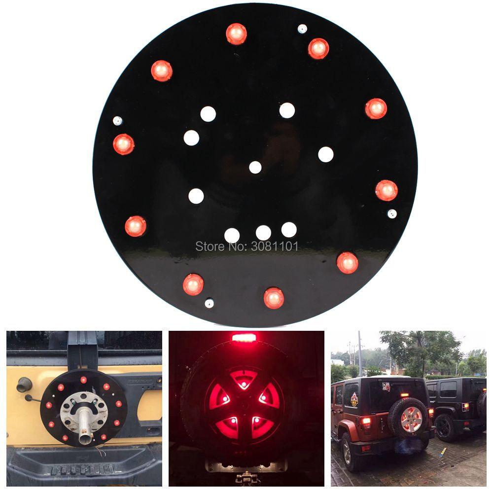 5W вело светлый Цвет запасное колесо свет/стоп-сигнал запасное колесо/запасное колесо света для Wrangler JK виллиса 2007-2016