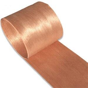 Image 3 - Naturalny prawdziwy czerwony orzech drewno fornir plasterek 20cm x 2.5m podkład z tkanką do mebli Q/C proste ziarno