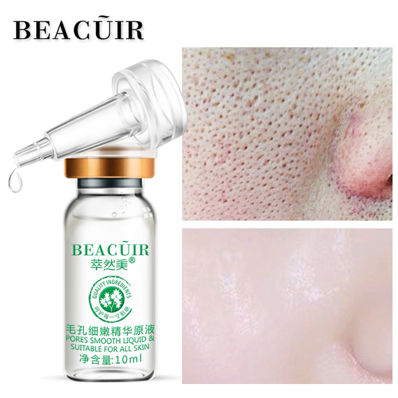 BEACUIR Shrink Pores Hyaluronic Acid liquid Moisturizing Face Serum Whitening Plant Skin Care Anti Aging Anti Wrinkle Cream 10ml