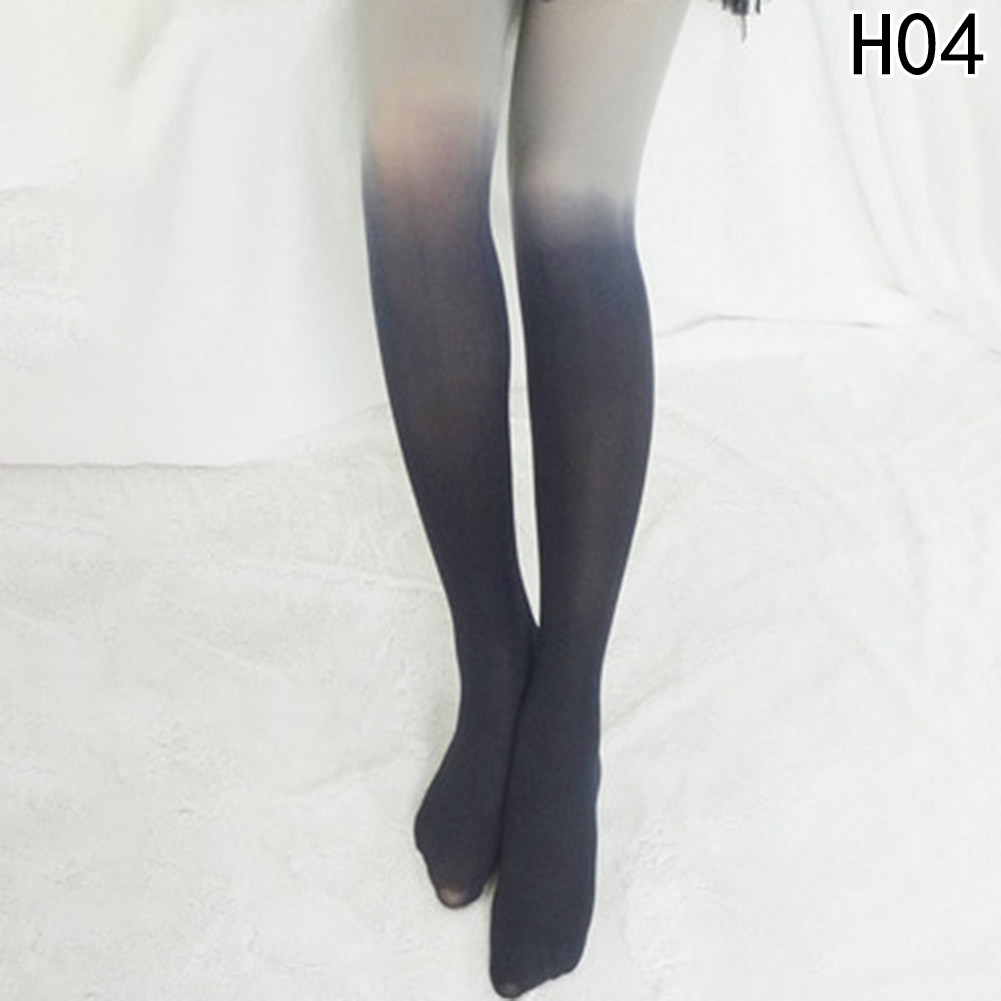 Newest Fashion Women Opaque Fading Gradient Color Velvet Stockings Pantyhose For all seasons